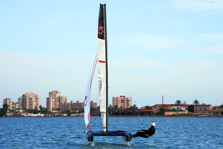 CodeF Light wind sail for iFLY15 foiling catamaran