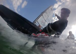Foiling fun sail racing