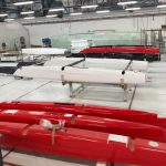 ifly 15 sailing with carbon hulls - production line