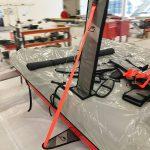 Foiling catamaran sailing - carbon foils
