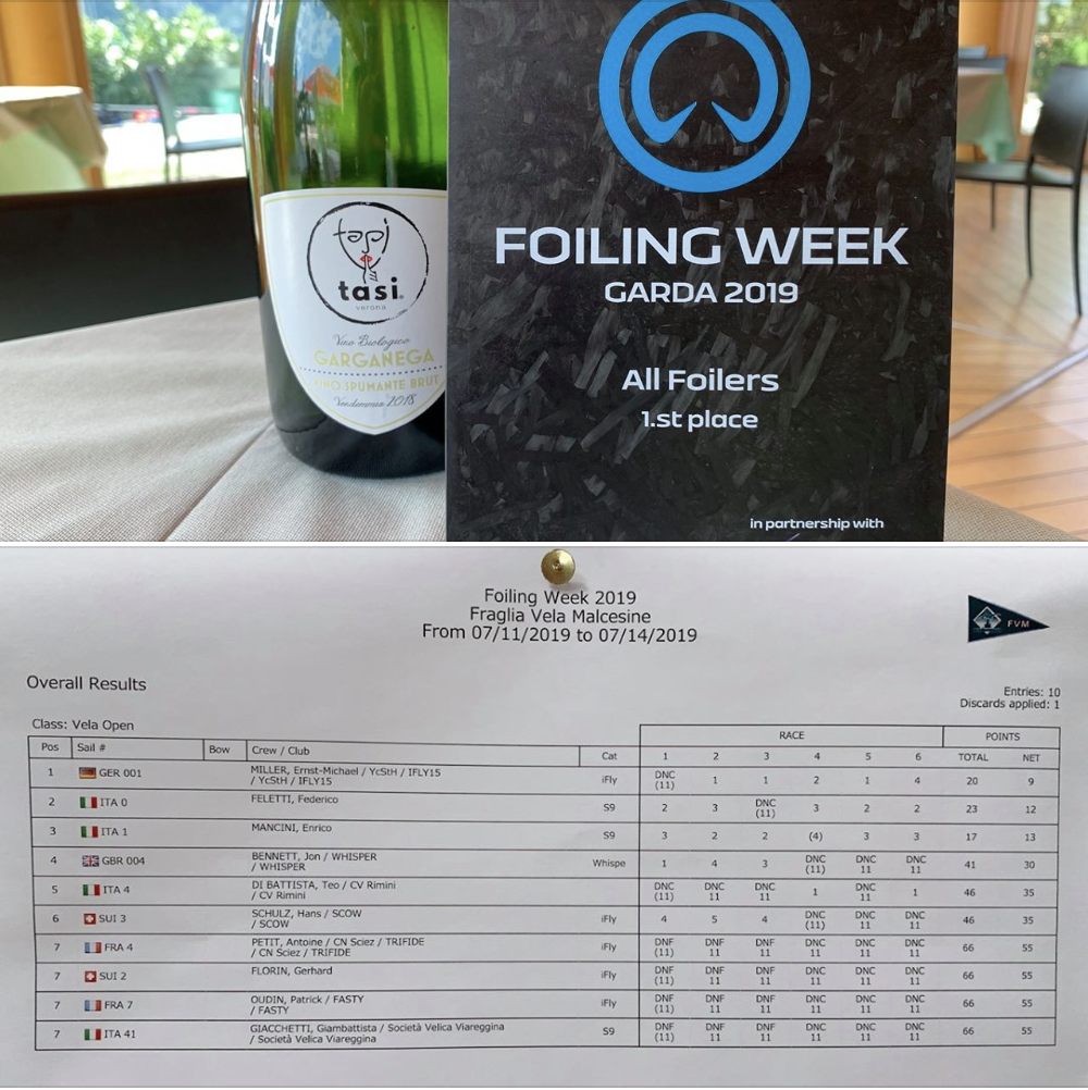 iFly15 winning all races on foiling week 2019