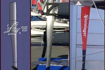 comparison iFLY15 rudder and AC75 ETNZ